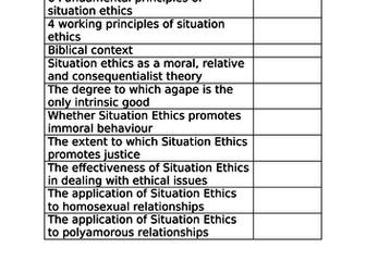 Situation Ethics Wjec Eduqas A Level revision booklet