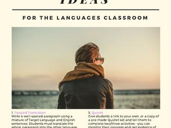 20 No Prep Low Prep Homework Ideas for MFL Classrooms