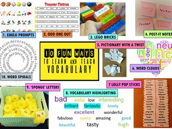 10 Fun Ways To Teach, Learn and Practise Vocabulary in Language Classroom