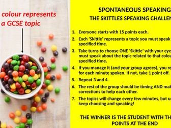 Spontaneous Speaking Challenge for MFL Classrooms