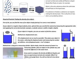 Density, Internal Energy, Latent Heat, Pressure & Boyle's Law
