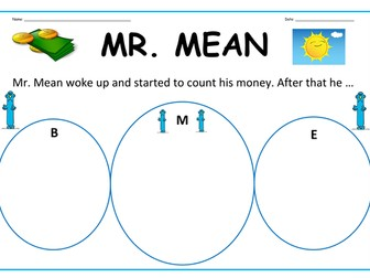 Mr. Men Activity - 'Mr. Mean' Writing Activity