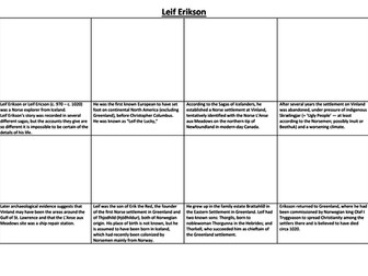 Leif Erikson Comic Strip and Storyboard