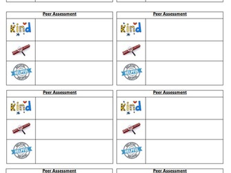 KS2 Self & Peer Assessment Pack