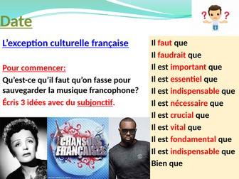 l'exception culturelle française - la musique francophone