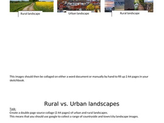 KS3 - Art and Design - Urban and Rural Landscapes - 1 TERM PROJECT