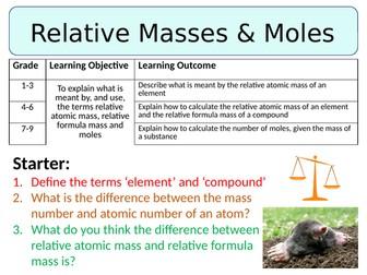NEW AQA GCSE Trilogy (2016) Chemistry - Relative Formula Mass & Moles