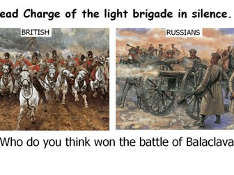 Charge of the Light Brigade lesson, annotations, worksheets