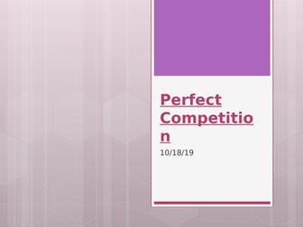 Perfect Competition - A Level Economics