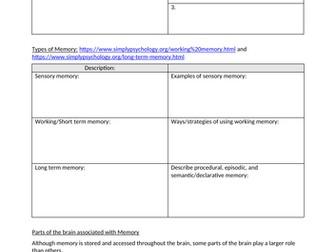Psychology - Memory Research