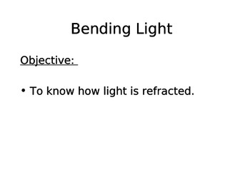 Year 8 Refraction