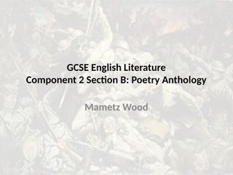 WJEC GCSE Anthology: Mametz Wood