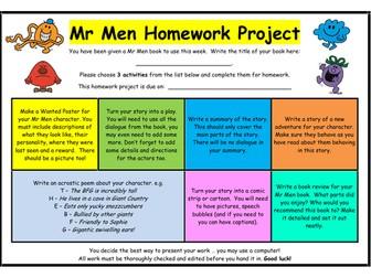 Mr Men - Homework Project