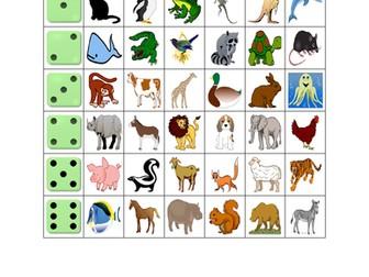 Animals Dice Game
