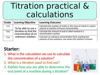 NEW AQA GCSE Trilogy (2016) Chemistry - Titration practical & calculations HT