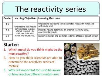 NEW AQA GCSE Trilogy (2016) Chemistry - The reactivity series