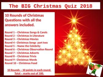 The Big Christmas Quiz 2018