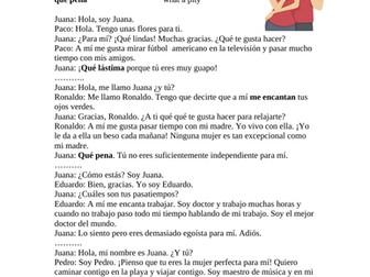 Gustar Verbs Reading - Lectura de Citas Rápidas (Hobbies / Pasatiempos)