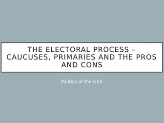 AQA - US primary and caucuses