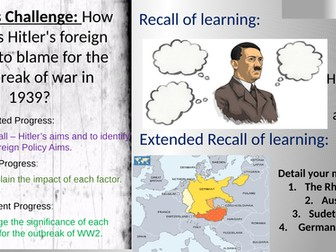 How far was Hitler's foreign policy to blame for the outbreak of war in 1939?