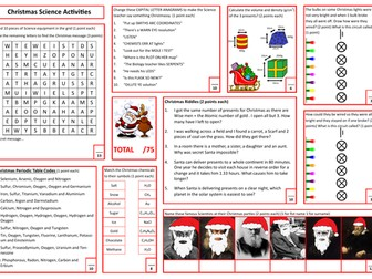 Science Christmas Activities
