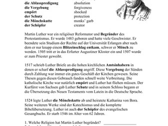 Martin Luther Biography in German