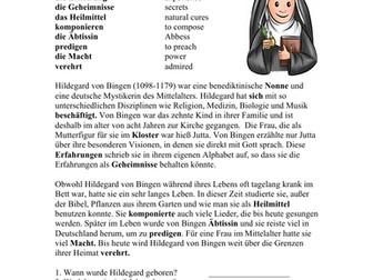 Hildegard von Bingen: Biography of a Famous German Nun / Lesung
