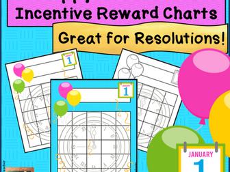 Happy New Year! Incentive Reward Sticker Charts