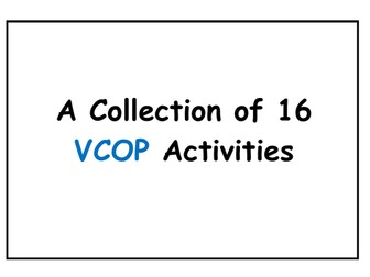 A Collection of 16 VCOP Activities!