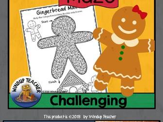 Gingerbread Man Maze