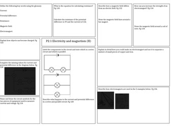 Revision Mat: Activate 2 - Electricity and magnetism