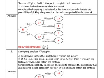 New Homework Sheets Bundle - December 2018