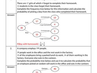 New Homework Sheets Bundle - December 2018