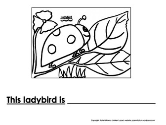 Ladybird Writing + Colouring Sheet - 1 line