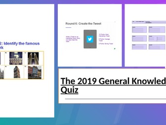 The 2019 General Knowledge Quiz