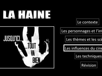 La Haine- Movie Study/ Etude du film- Les influences- A Level French