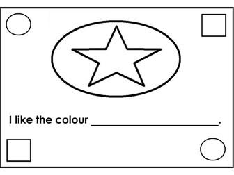 I like the colour...  Writing + Colouring