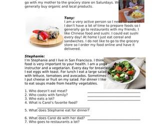 My Favorite Foods Easy English Reading (ELL / ESL / EFL)