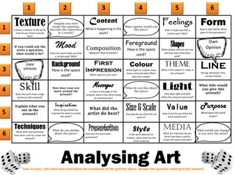 Analysing Art - Discussion Grid