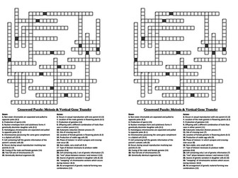Crosswords for A-level Biology Genetics & Evolution