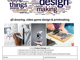 Product Design Booklet Entire Term