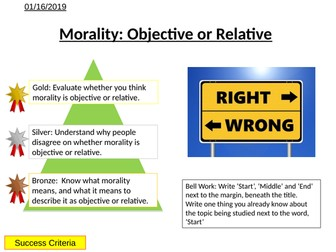 Morality - Relative or Objective