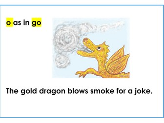 """Phonic """"oe"""" or long o (as in """"go"""") illustrated"""