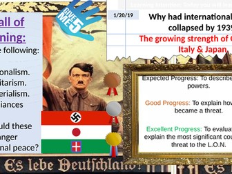 The Growing power of Germany Japan Italy 1930s