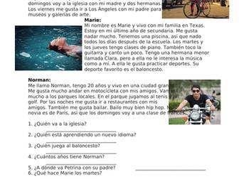 Gustar Spanish Reading: Me gusta / Nos gustan / Me interesa / Le encanta