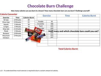 Chocolate Burn Challenge