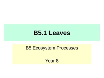 Activate KS3 Science - Module B5 Ecosystem Processes