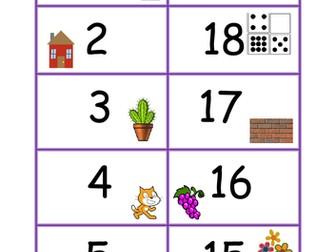 Number bonds 20 pairs