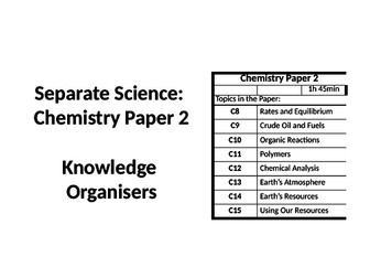 AQA Science: Knowledge Organisers: Revision by