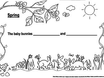 SPRING ANIMALS Writing Sheet Stack, KS1 by katewilliams